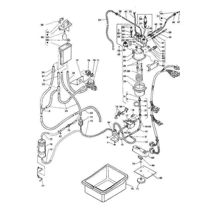 Necta Zanussi - Brio 250 29 / Caldeira Electrovalvulas