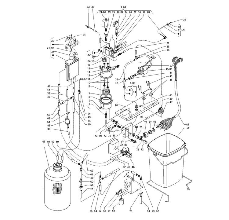 Necta Zanussi - Kikko 15 / Caldeira Electrovalvulas