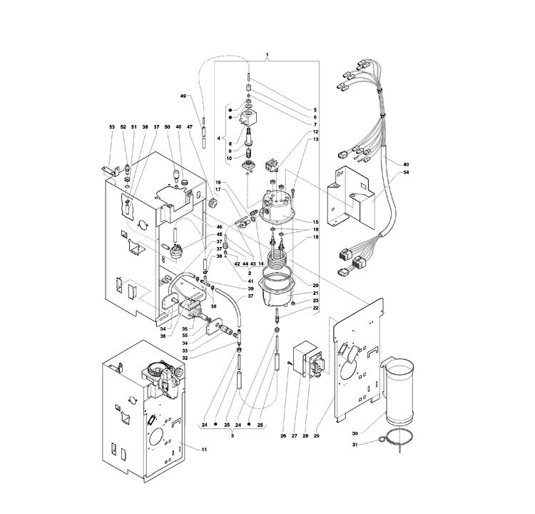 Necta Zanussi  -  Astro 31 / Caldeira Electrovalvulas