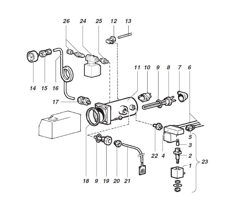 Ducale - Montecarlo / Caldeira / Electrovalvulas solúveis