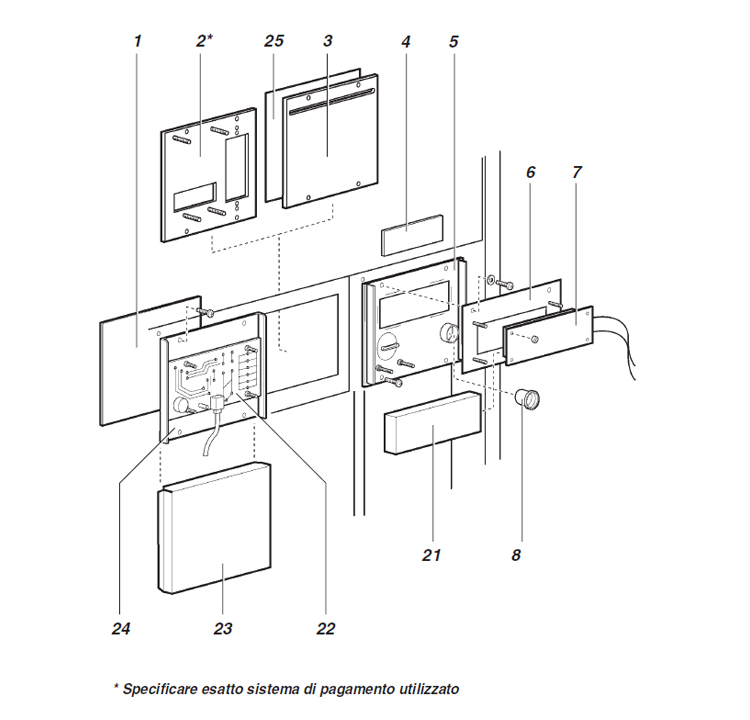 Ducale - Montecarlo / Componentes electrónicos da porta