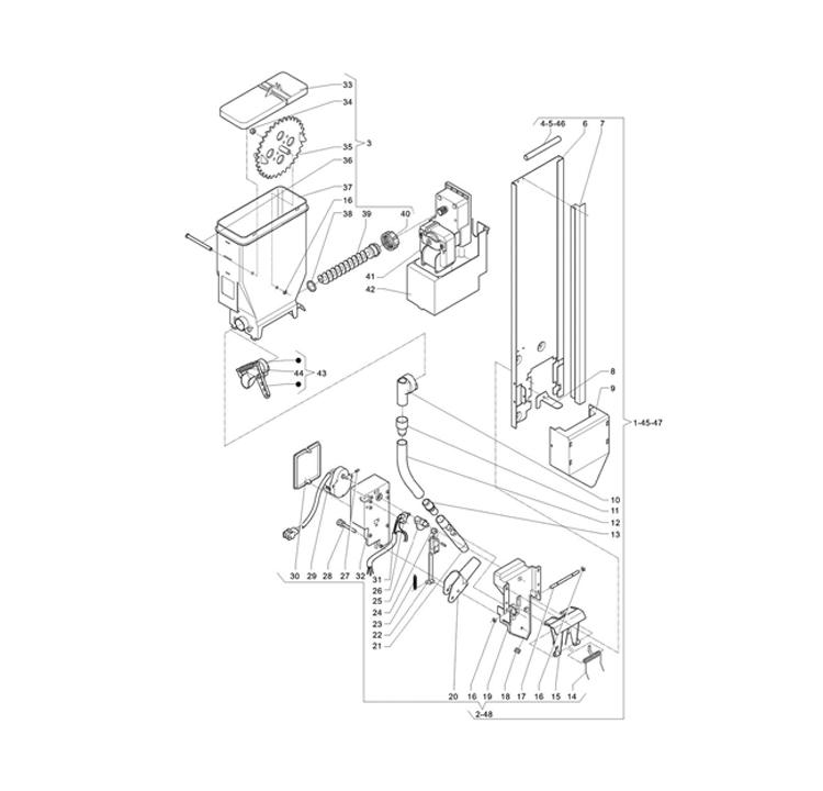 Necta Zanussi - Brio 3 5 / Dispensador de açucar / Espátulas