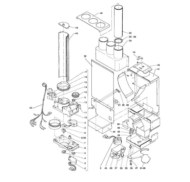 Necta Zanussi - Brio 200 23 / Dispensador de Copos