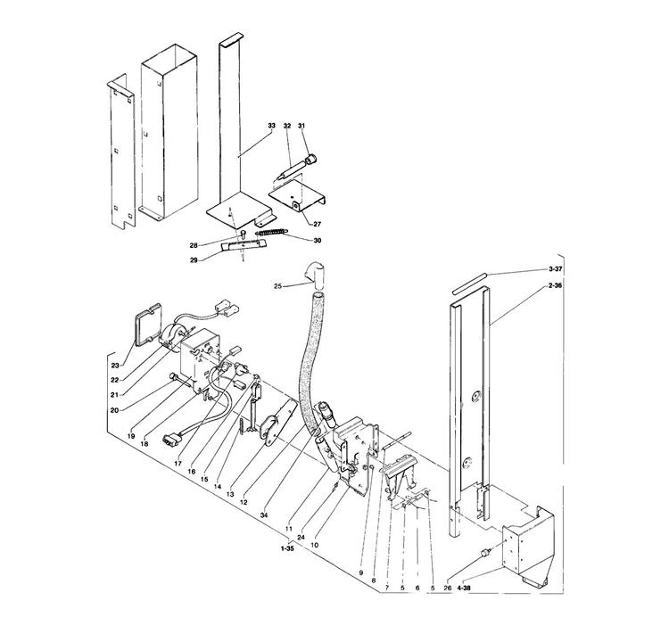Necta Zanussi - Brio 200 26 / Dispensador de açucar / Espátulas