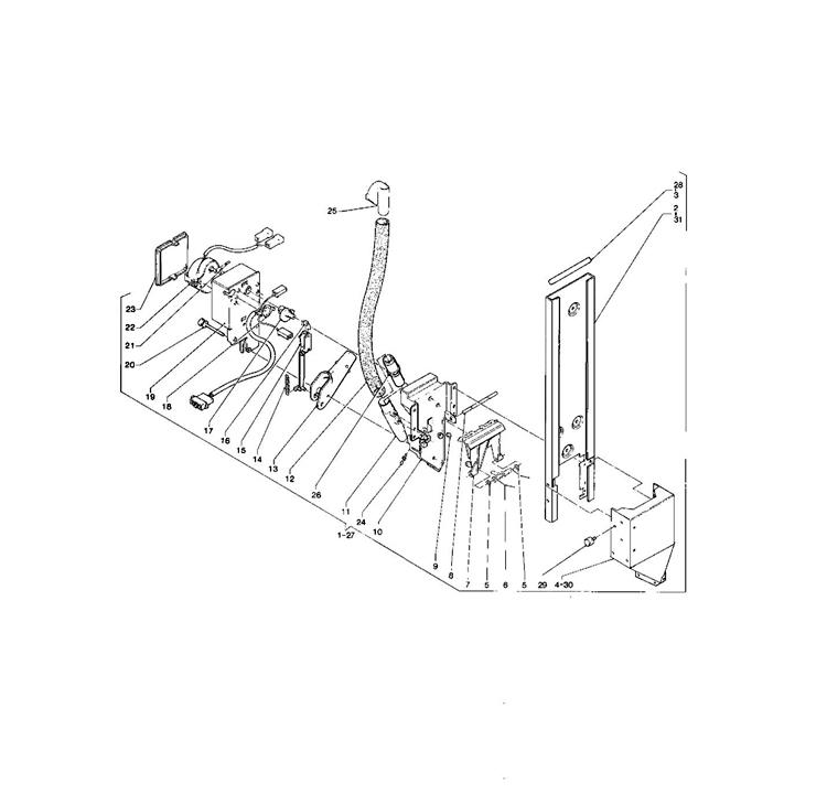 Necta Zanussi - Brio 250 32 / Dispensador de açucar / Espátulas