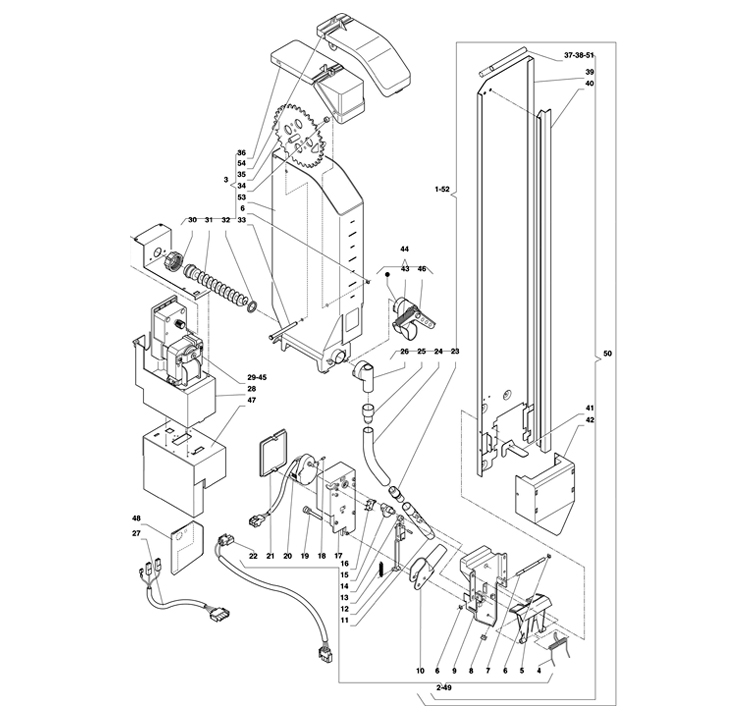 Necta Zanussi  -  Astro / Dispensador de açucar / Espátulas