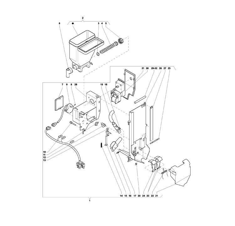 Necta Zanussi - Colibri / Dispensador de açucar / Espátulas