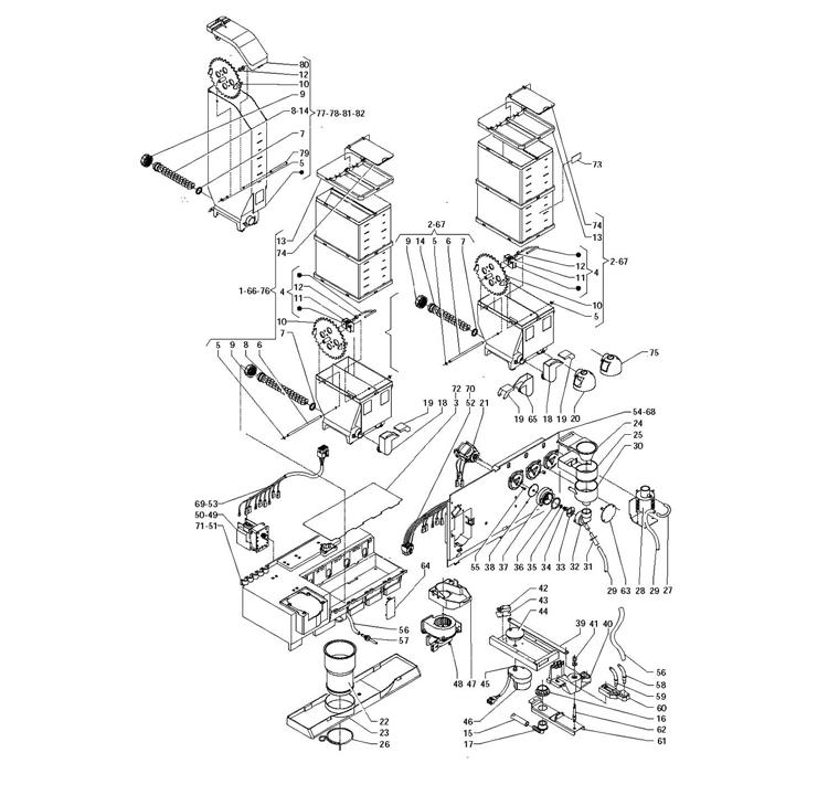 Necta Zanussi - Kikko 18 / Mixers / Contentores