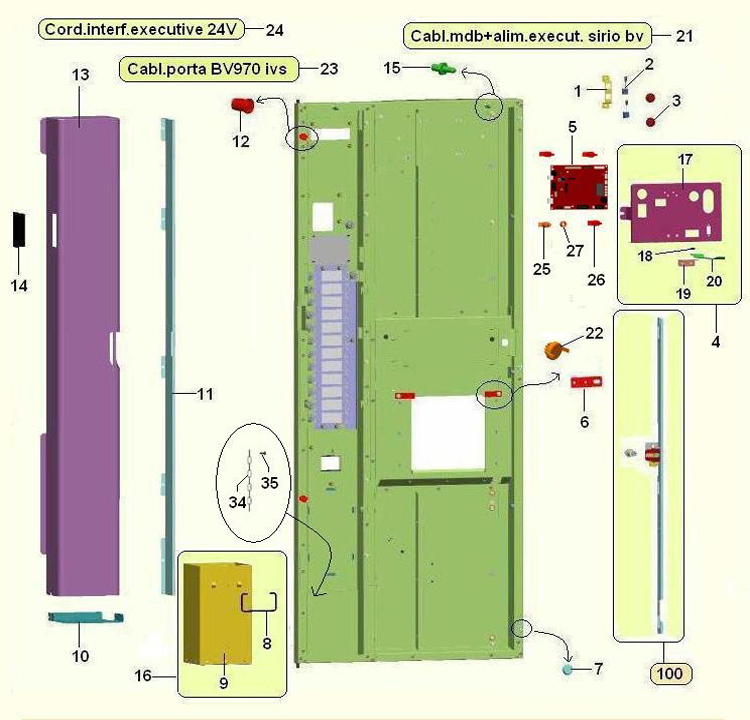 Bianchi - Lei 400 / Porta interior / Placa CPU