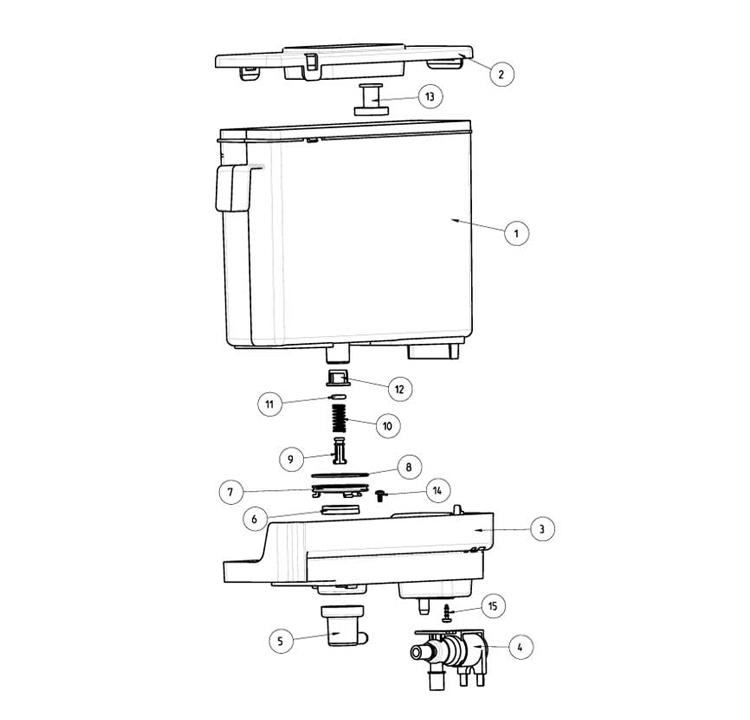Rhea - Mini Rhea / Reservatório autonomia de água
